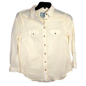 Maeve Anthropologie Textured Polka Dot Shirt Sz 6